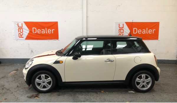 SOLD – 2007 MINI Cooper in Pepper White with Pepper Pack – SOLD